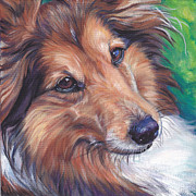 Dog Art Paintings - Shetland Sheepdog by Lee Ann Shepard