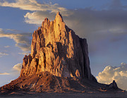 New Mexico Landscapes Prints - Shiprock The Basalt Core Of An Extinct Print by Tim Fitzharris