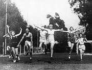 Footrace Photo Prints - Silent Film Still: Sports Print by Granger