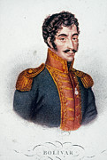 1819 Prints - Simon Bolivar (1783-1830) Print by Granger