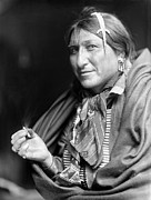 Earring Photo Framed Prints - SIOUX NATIVE AMERICAN, c1900 Framed Print by Granger