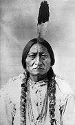 19th Art - Sitting Bull (1834-1890) by Granger