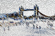 London England  Digital Art - Southbank London art by David Pyatt