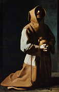 Saint Paintings - St Francis Of Assisi by Granger