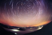 Startrail Framed Prints - Star Trails Framed Print by Laurent Laveder