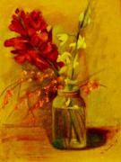 George Siaba Metal Prints - Still life Metal Print by George Siaba