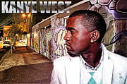 Jay Z Acrylic Prints - Street Phenomenon Kanye West Acrylic Print by The DigArtisT