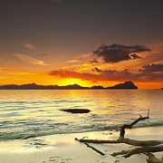 Palawan Prints - Sunset Print by MotHaiBaPhoto Prints