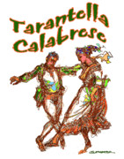 Computer Generated Art Prints - Tarantella Calabrese Print by Dean Gleisberg