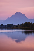 Pink Sunset Posters - Teton Reflections Poster by Andrew Soundarajan