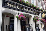 Hanging Baskets Prints - The Crutched Friar pub London Print by David Pyatt