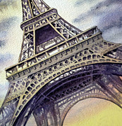 Eiffel Tower Paintings - The Eiffel Tower  by Irina Sztukowski