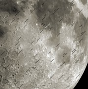 Selenology Prints - The Moon From Space, Artwork Print by Detlev Van Ravenswaay
