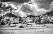 Colorado Pyrography Framed Prints - The Stanley Hotel Framed Print by G Wigler