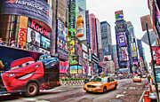 Broadway Photo Posters - Times Square Poster by June Marie Sobrito