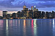 Nightlife Photos - Toronto skyline by Elena Elisseeva
