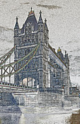 London England  Digital Art - Tower Bridge art by David Pyatt