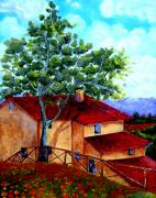 Villa Paintings - Tuscany villa by Inna Montano