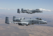Two By Two Framed Prints - Two A-10 Thunderbolts Fly Framed Print by HIGH-G Productions