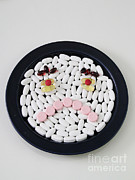 Pills Prints - Unhappy Pills Print by Photo Researchers, Inc.