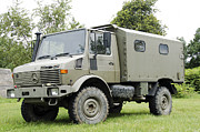 Component Photo Metal Prints - Unimog Truck Of The Belgian Army Metal Print by Luc De Jaeger