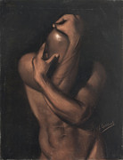 Figure Study Pastels - Untitled by L Cooper