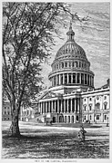 1876 Framed Prints - U.s. Capitol Framed Print by Granger