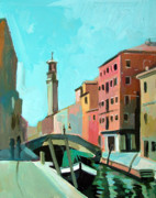 Buildings Mixed Media Originals - Venice by Filip Mihail