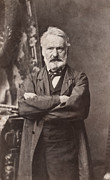 Victor Hugo Framed Prints - Victor Hugo (1802-1885) Framed Print by Granger