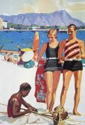 Sports Art Print Paintings - Vintage Hawaiian Art by Hawaiian Legacy Archive - Printscapes