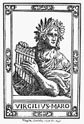 Woodcut Photo Framed Prints - Virgil (70-19 B.c.) Framed Print by Granger