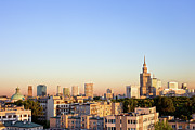 Center City Prints - Warsaw Cityscape Print by Artur Bogacki