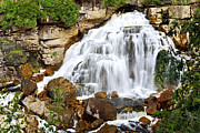 Falling Water Creek Prints - Waterfall Print by Elena Elisseeva