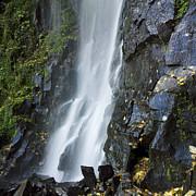 Waterfall Of Vaucoux. Puy De Dome. Auvergne. France Print by Bernard Jaubert