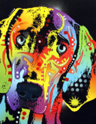 Pop Art Mixed Media Metal Prints - Weimaraner Metal Print by Dean Russo