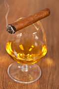 Drunk Framed Prints - Whisky and cigars Framed Print by Sabino Parente