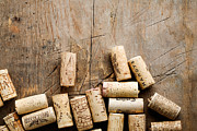 Tasting Framed Prints - Wine corks Framed Print by Kati Molin