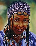 African-american Mixed Media Prints - Winnie Mandela Print by Shahid Muqaddim