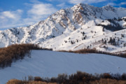 Covered Acrylic Prints - Winter in the Wasatch Mountains of Northern Utah Acrylic Print by Utah Images