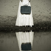 Frills Posters - Woman With Suitcase Poster by Joana Kruse