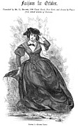 Riding Habit Prints - Womens Fashion, 1860 Print by Granger