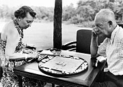 Board Game Photo Prints - Dwight D. Eisenhower Print by Granger