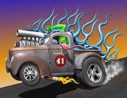Pick Up Digital Art Posters - 41 Willys Pick-Up Poster by Stuart Swartz
