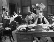 Journalism Prints - Silent Film Still: Offices Print by Granger