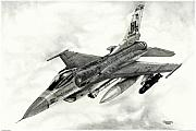 Fighter Jet Drawings - 421st Black Widows by Trenton Hill