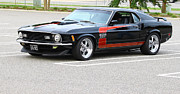 Stripe.paint Photo Prints - 427 Boss Mustang Print by Barry  Blackburn