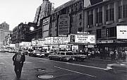 City. Framed Prints - 42nd Street NYC 1982 Framed Print by Steven Huszar