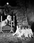 Christmas Eve Metal Prints - Silent Film Still Metal Print by Granger