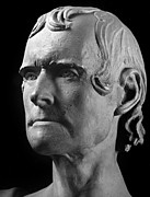 Statue Portrait Metal Prints - Thomas Jefferson (1743-1826) Metal Print by Granger