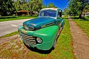 Old Pickup Photos - 44 Ford  by Andrew Armstrong  -  Orange Room Images